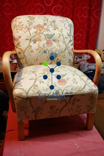SiDeSignPracownia Fotel tapicerowany.